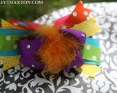 O.T.T. COLORFUL HAIRBOW on Alligator Clip