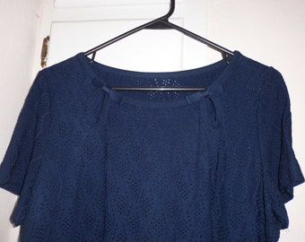 Young Viewpoint Vintage Navy blue knit dress and jacket