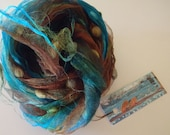 Hand Dyed Scarf: Silk Gauze with Cotton Spots