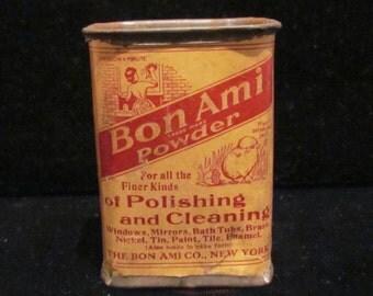 Antique Bon Ami Powder Tin Full Tin Unused Tin 1890-1900 RARE
