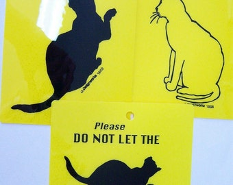 CATS luggage tags and Indoor Cat Sign