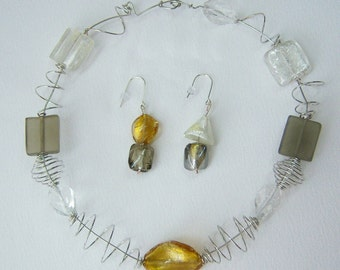 COILS necklace and earrings