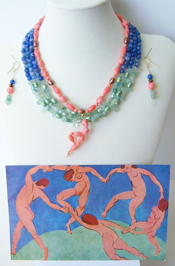 Matisse: The Dance necklace and earrings
