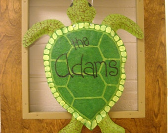 Sea Turtle Door Hanger