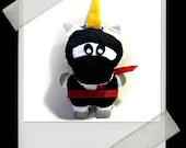 NINJACORN (ninja unicorn) Stuffed Felt Toy