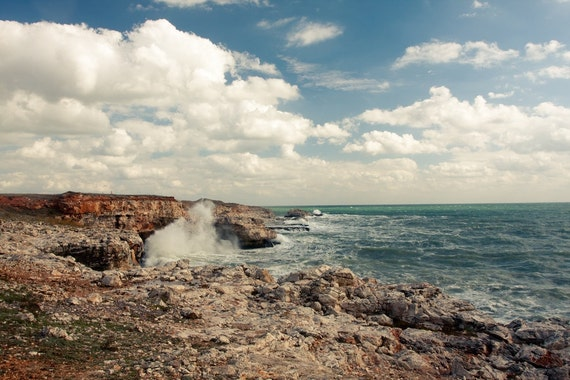 Crashing Waves Photography in Bulgaria Black Sea, Fine Art Photograph Canvas or Photo Paper Print 8x10 or 8x12