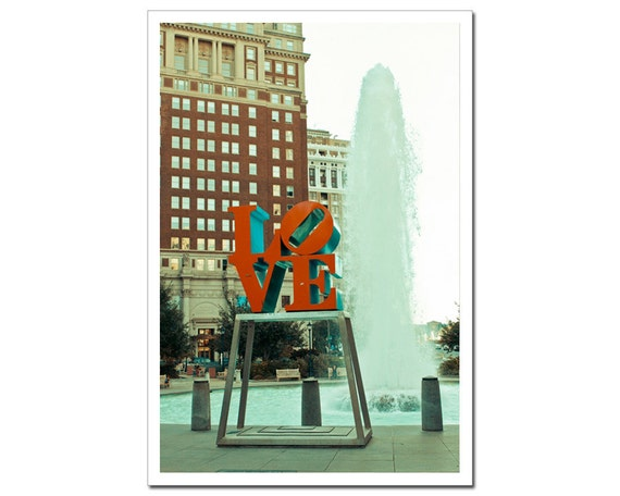 Philadelphia Photograph Print, Fine Art Photography, Fountain Love Sculpture, Fine Art Photography, Downtown