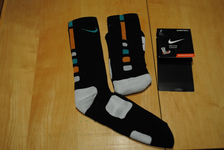 custom nike elite basketball socks irish green and orange