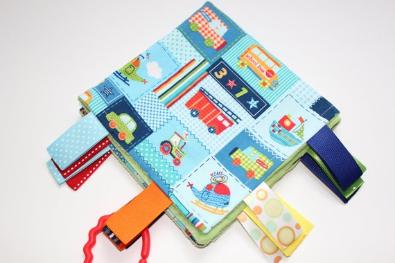 Baby boy Planes, trains and automobiles Ribbon Tag blanket