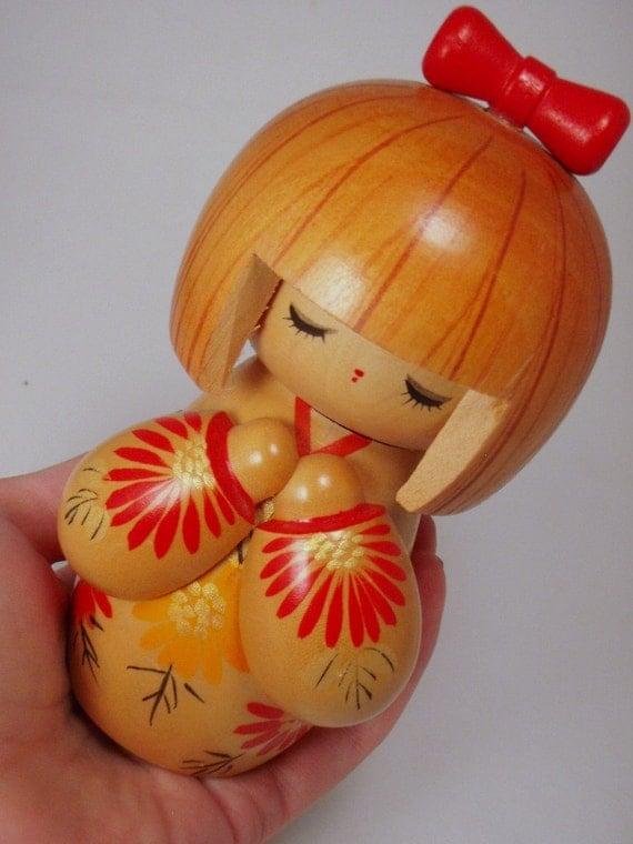 Kokeshi Girl Geisha Made in Japan