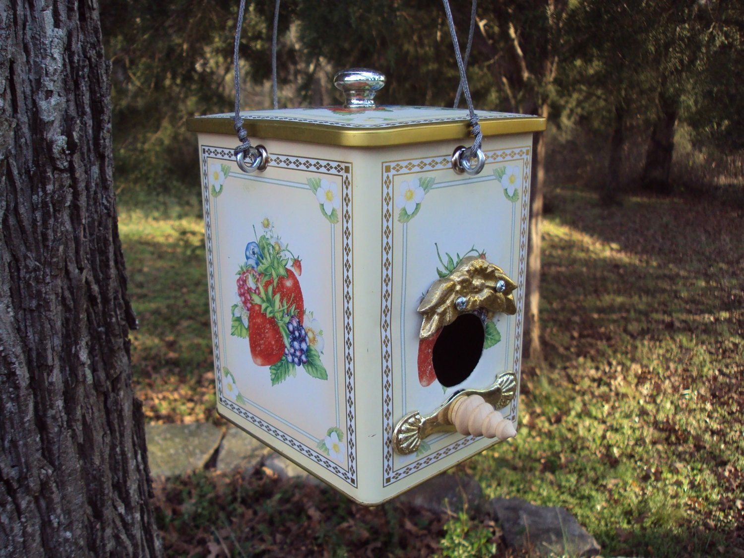 Ooak bird house made from recycled and found objects for House made by waste material
