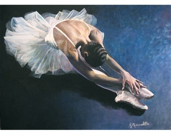 Ballerina is an original acrylic painting