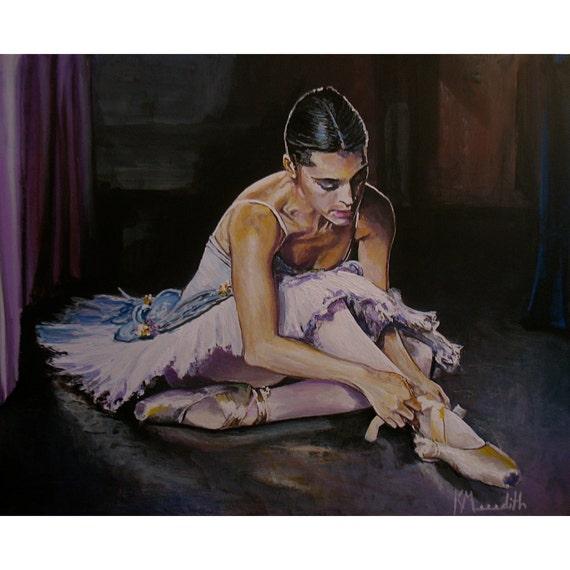 Latina Ballerina an original acrylic painting