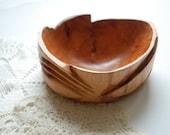 Juniper wood bowl/salt cellar/candle holder-Handmade eco friendly-Home decor,kitchen-Outdoor wedding-Rustic