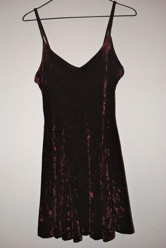 vintage Betsy Johnson red velvet dress