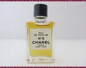 Vintage Chanel No 5 Perfume Splash Mini .13 Fl oz Rare