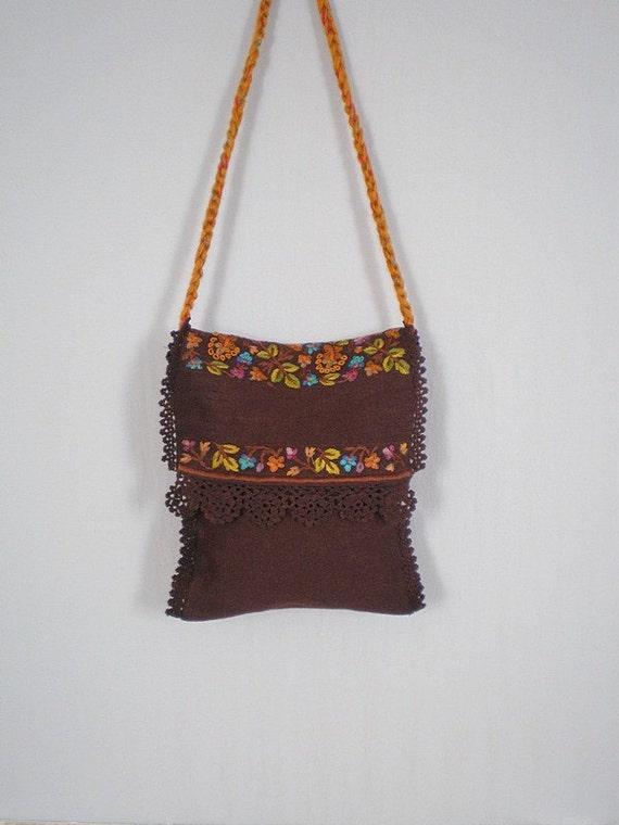 Vintage Purse /  Vintage 1970s Boho Bag /  Vintage Tote