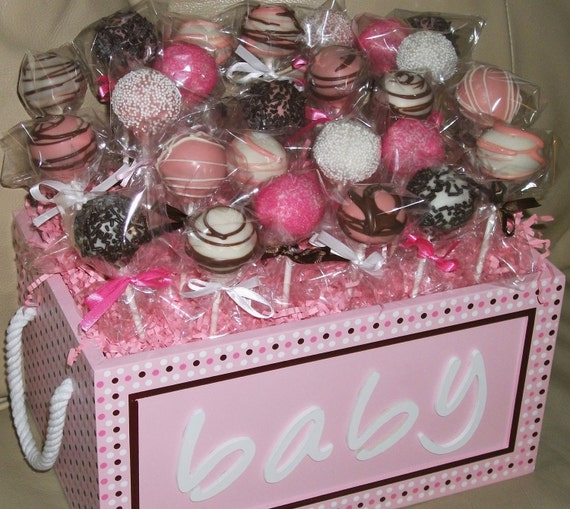 cake pops: baby shower cake popsbaby girl or baby boy