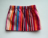 Pretty Corduroy Skirt - Colorful Stripes for 18 inch American Girl or Bitty Baby doll