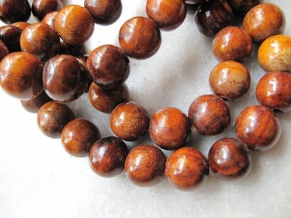 Round wooden beads x 36, 16 mm, free combined shipping