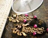 Antique Ribbon Chandelier Earrings