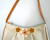 Cotton/Leather Mini Purse