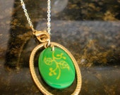Recycled Ceramic and Gold Necklace