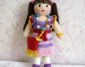 Knitted Doll Oksana from Russia - Free Shipping