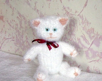 knitted toy handmade cat