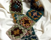Granny Square Scarf (approximately 42 inches X 3.5  inches)