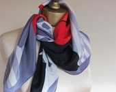 Pierre Cardin silk scarf bold and graphic