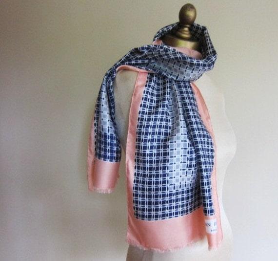 Jean Patou vintage silk scarf