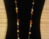 Baltic Amber Multi Stone Necklace Autumn Fall Jewelry