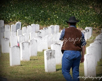 Cowboy Print / Confederate Cemetery / Tombstone Print / Cowboy Picture / Free US ShippingMVMayoPhotography
