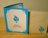 Birthday Card - 2 cards per order (envelope included) - 4 styles to choose from