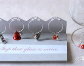 Love is in the Air Wine Charm - great for bridal showers