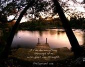 Inspirational Bible verse Philippians 4:13