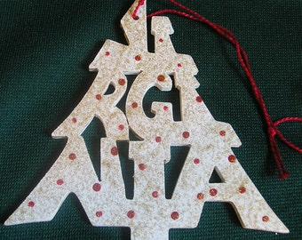 Virginia ornament, tree shaped