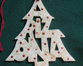Arizona ornament, tree shaped