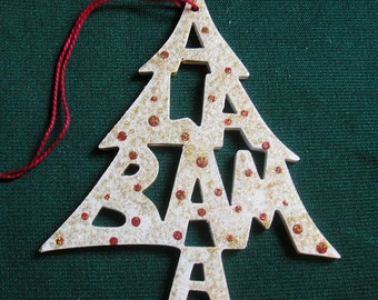 Alabama ornament, tree shaped