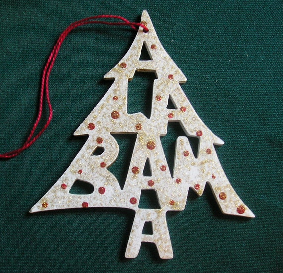 Alabama ornament, tree shaped