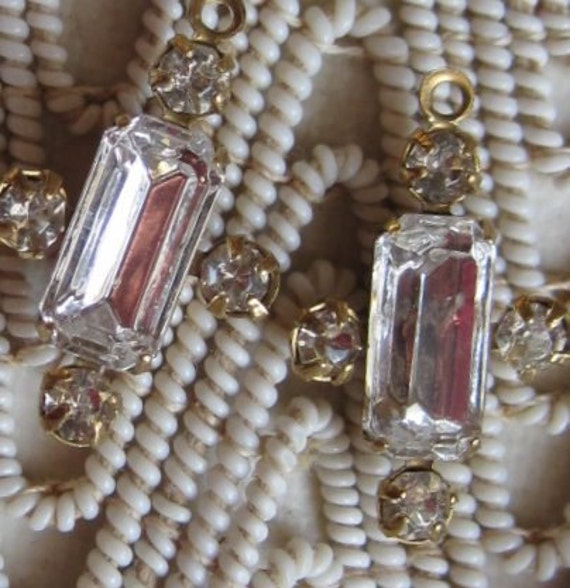 Swarovki Crystal Multi Stone Rhinestone 19MM Brass Connector Rectangle