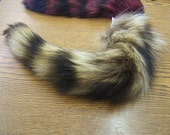 Real Racoon Fur Tail - Natural Colored