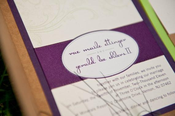 CUSTOM LISTING for Mayela Razo - Custom Wedding Invitation set
