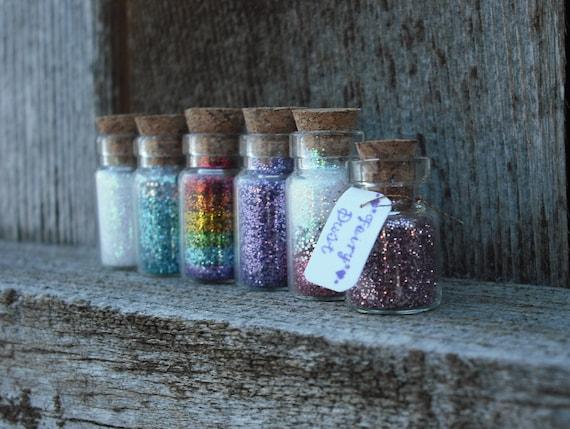 Fairy Dust Jars set of 5, Magic Dust, Pixie Dust, Wishing Vial, Princess, Rapunzel