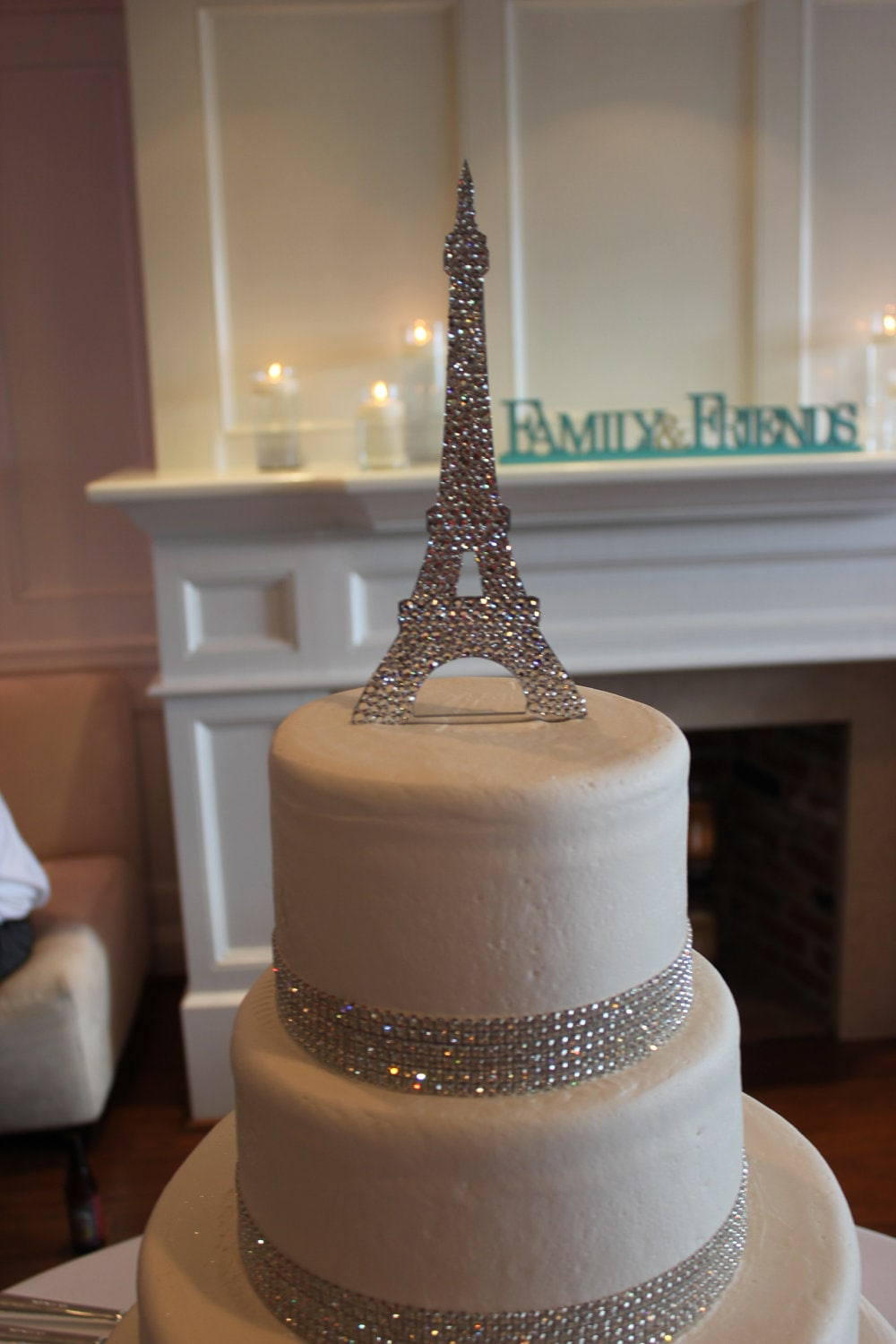 Eiffel Tower Crystal Cake Topper