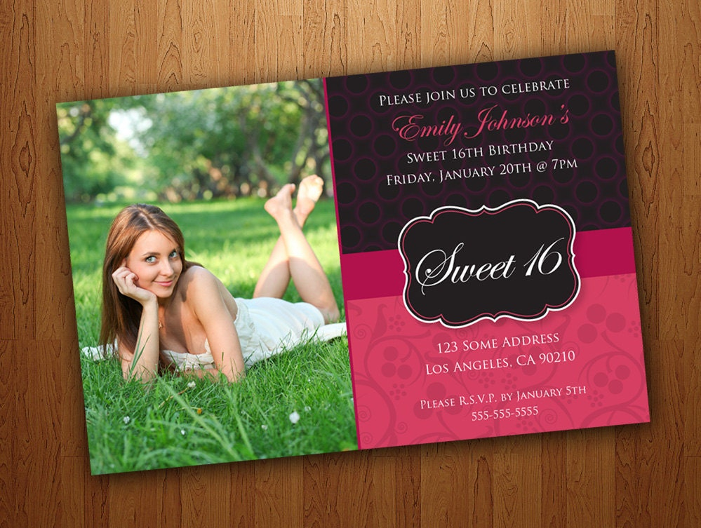 Ridiculous image in printable sweet 16 invitations