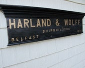 "Custom Order for A. Moore, Harland & Wolff ""Titanic""  shipbuilders coat rack"