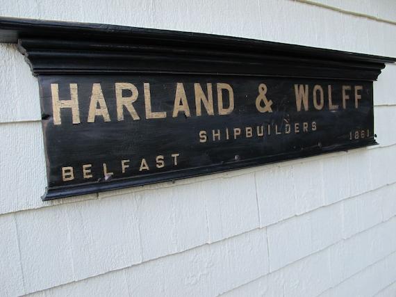 "Custom Order for A. Moore, Harland & Wolff ""Titanic""  shipbuilders coat rack"