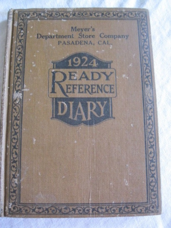 1924 Vintage Ready Reference Diary Meyers Department Store